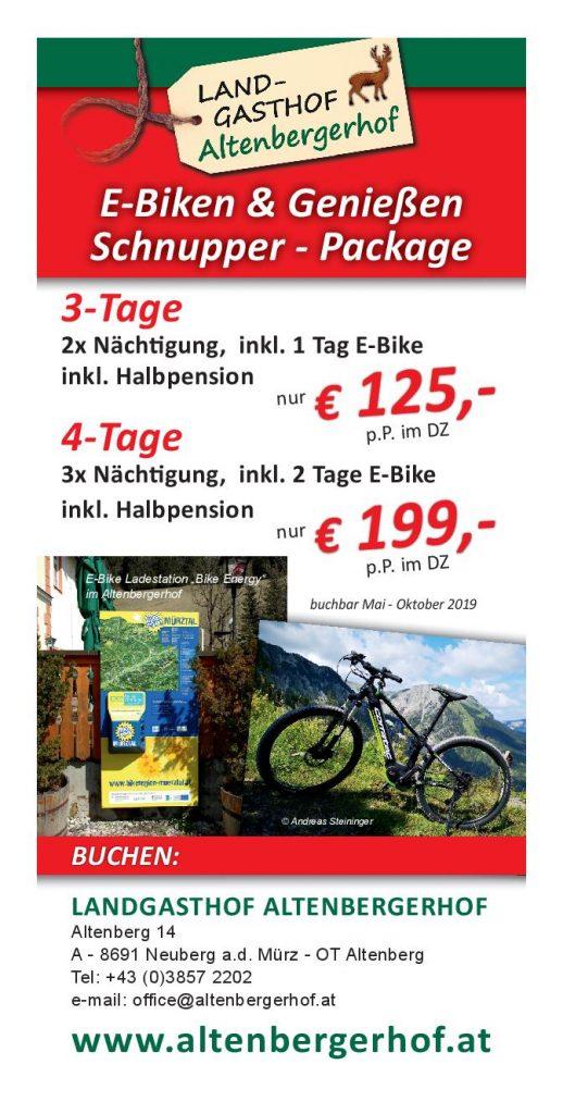 E-Bike Verleih Altenbergerhof